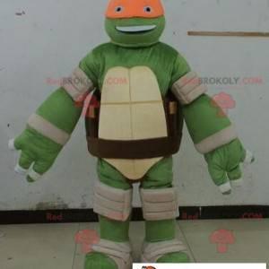Maskot želvy ninja s oranžovou čelenkou - Redbrokoly.com