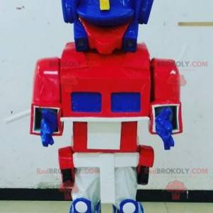 Blue, white and red toy mascot Transformers way - Redbrokoly.com