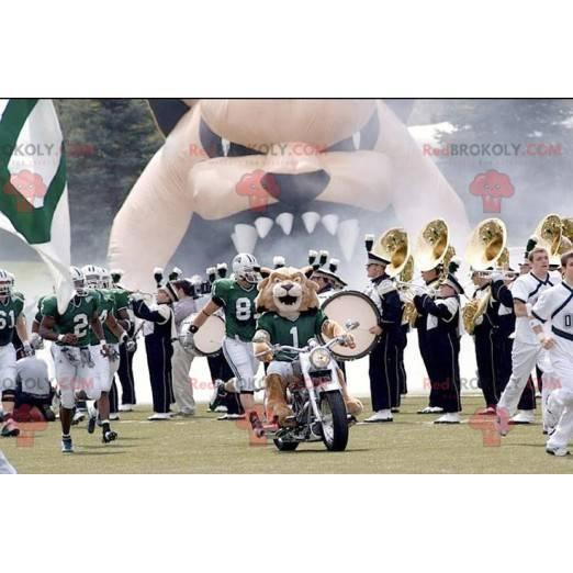 Maskot hnědý tygr ve sportovním oblečení - Redbrokoly.com