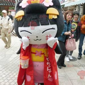 Chinesisches Mädchen Maskottchen der asiatischen Frau -