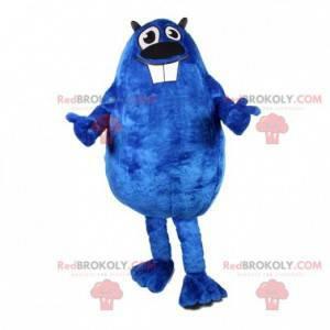 Plump og morsom blå bevermaskot. Beaver-kostyme - Redbrokoly.com
