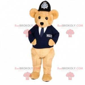 Beige Bär Maskottchen im Polizisten Outfit - Redbrokoly.com