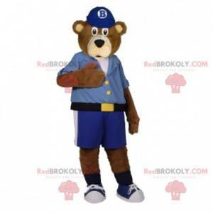 Braunbär Maskottchen gekleidet in ein Hemd mit Shorts -