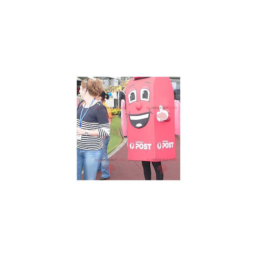 Giant and smiling red mailbox mascot - Redbrokoly.com