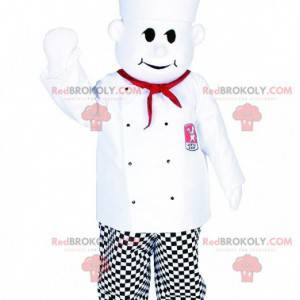 Maskot kuchař s kuchařskou čepicí. Kuchařský kostým -