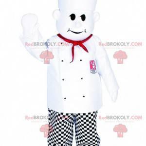 Maskottkokk med kokkehatt. Kokkedrakt - Redbrokoly.com