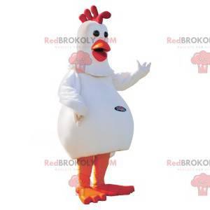 Obří bílý a červený slepice maskot - Redbrokoly.com