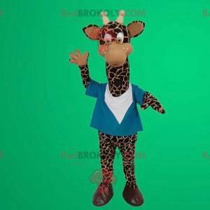 Mascote girafa fofa e engraçada - Redbrokoly.com