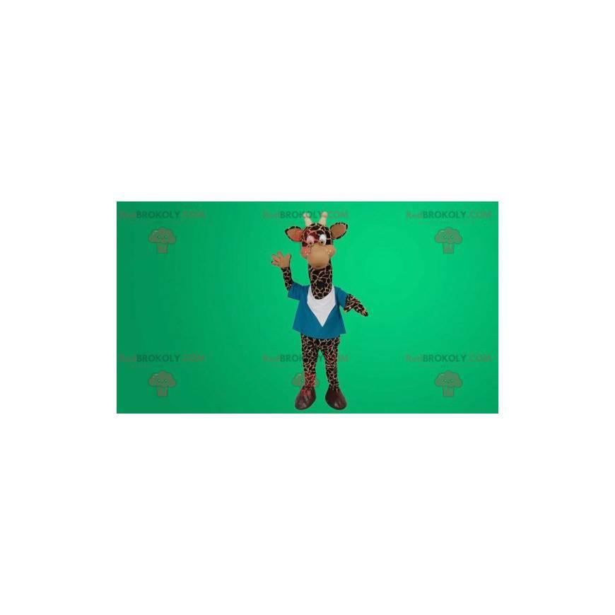 Roztomilý a zábavný maskot žirafa - Redbrokoly.com
