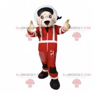 Dog mascot in pilot outfit. Aviator mascot - Redbrokoly.com