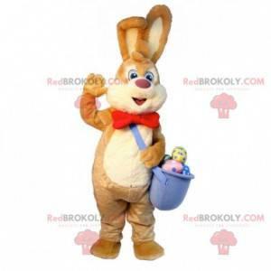 Brązowy i biały easter bunny maskotka z jajkami - Redbrokoly.com