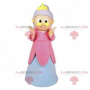 Mascote de fada. Mascote velha senhora com asas - Redbrokoly.com