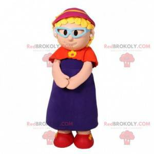 Old lady grandmother mascot with glasses - Redbrokoly.com