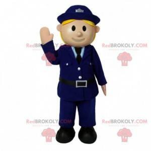 Polizist Maskottchen in Uniform. Polizistenkostüm -