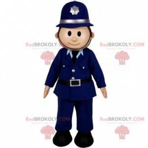 Maskot policisty. Muž v policejní uniformě - Redbrokoly.com