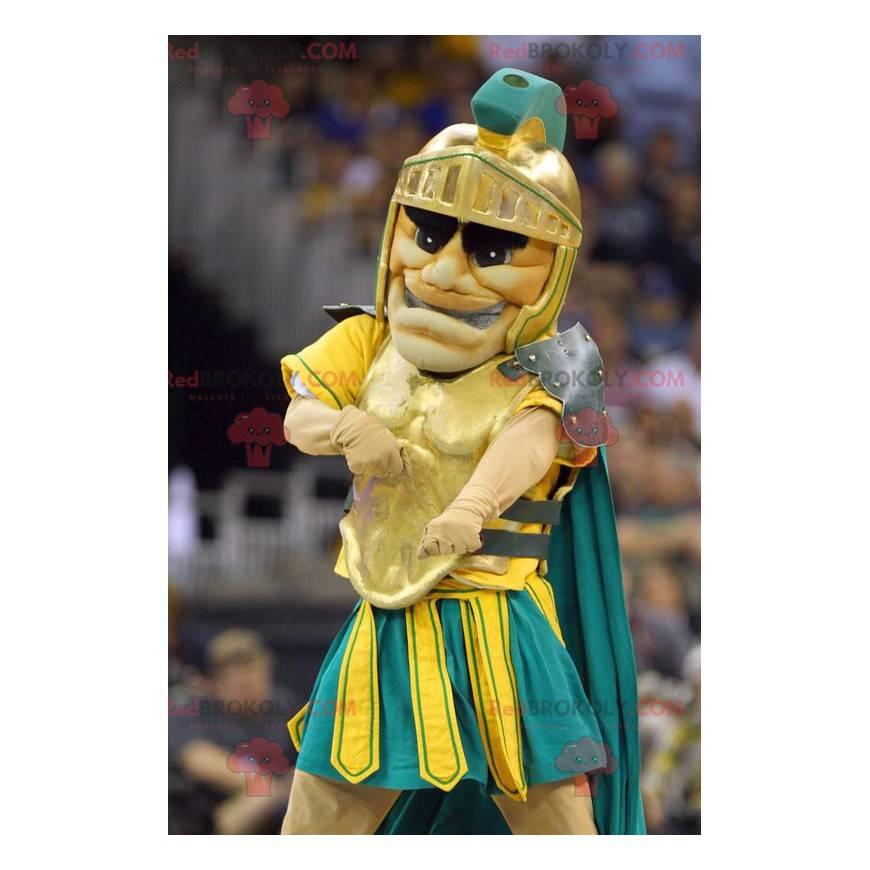 Knight gladiator mascot with armor - Redbrokoly.com