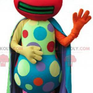 Vícebarevný maskot hmyzu s barevnými tečkami - Redbrokoly.com