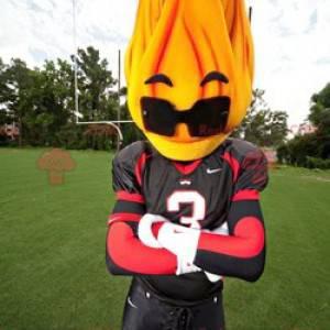 Flammenmaskottchen mit Sonnenbrille - Redbrokoly.com