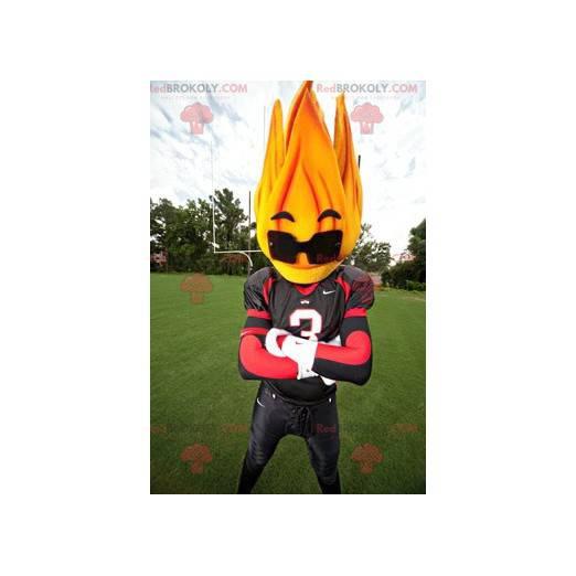 Flame mascot with sunglasses - Redbrokoly.com