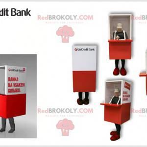 Bankteller maskot. Wicket kostyme - Redbrokoly.com