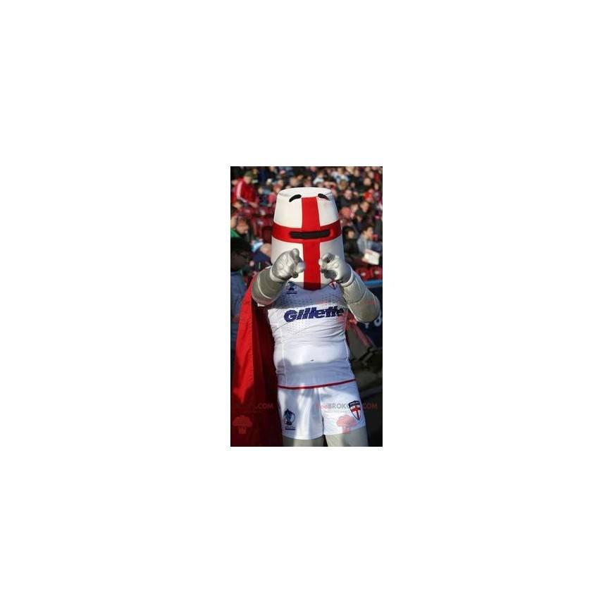 Rittermaskottchen mit Helm und rotem Umhang - Redbrokoly.com