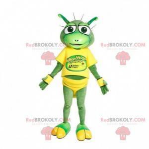 Green alien creature mascot - Redbrokoly.com