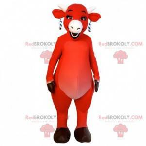 Kiri kráva maskot slavný červená kráva značky - Redbrokoly.com