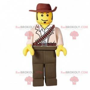 Lego maskotka przebrana za łowcę kowboja - Redbrokoly.com
