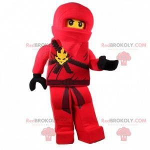 Lego maskot v červeném ninja oblečení - Redbrokoly.com