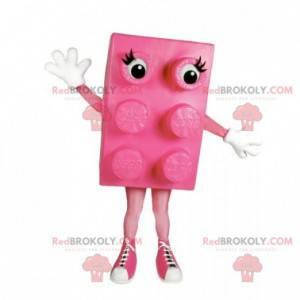 Famous pink Lego piece maskot konstruksjon sett - Redbrokoly.com