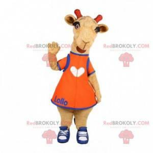 Maskot hnědý ovčí velbloud. Kozí kostým - Redbrokoly.com
