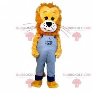Maskot hnědé a žluté lvíče. Malý lev maskot - Redbrokoly.com