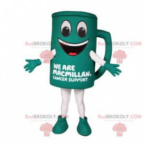 Giant and smiling green cup mascot - Redbrokoly.com