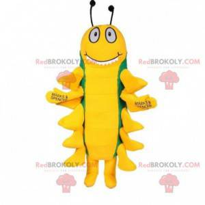 Grønn og gul tusenbeins insekt maskot - Redbrokoly.com