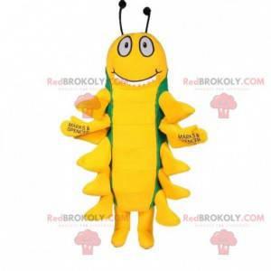 Maskot hmyzu stonožky zelené a žluté - Redbrokoly.com