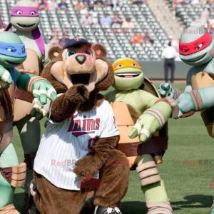 Famous Ninja Turtles Cartoon Turtles Mascots - Redbrokoly.com