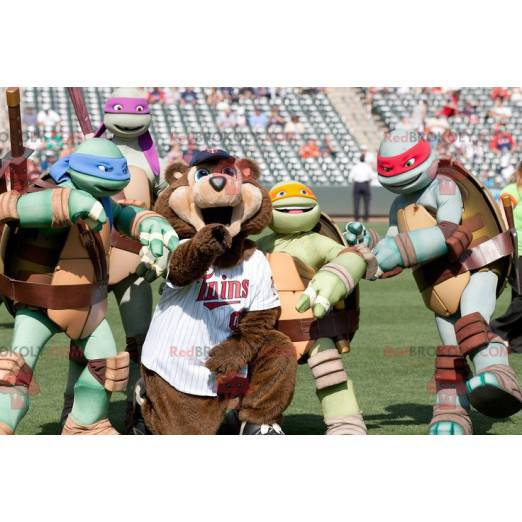 Berühmte Ninja Turtles Cartoon Turtles Maskottchen -