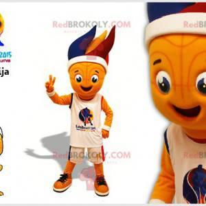 Basketballspiller maskot med fargede veker - Redbrokoly.com