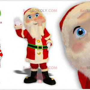 Santa Claus mascot in traditional dress with pretty eyes -