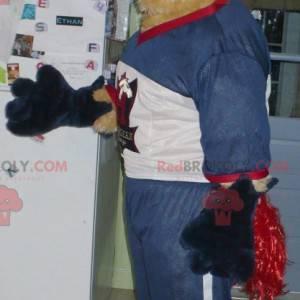 Horse mascot beige and red mare - Redbrokoly.com
