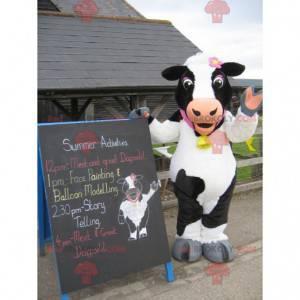 Velmi hezký maskot černé a bílé krávy - Redbrokoly.com