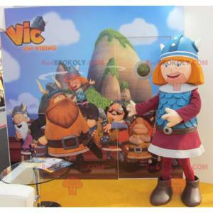 Red-haired mascot Vic the Viking famous TV character -