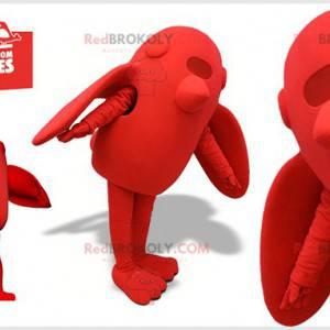 Maskotka gigantyczny czerwony ptak. Czerwona maskotka -