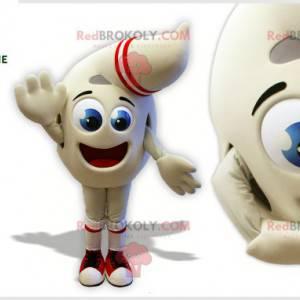Maskot bílý sněhulák ve tvaru kapky - Redbrokoly.com