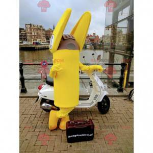 Gigantyczna żółta maskotka terminalu telefonicznego -