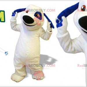 Biały i niebieski pies maskotka. Maskotka Talking Tom -