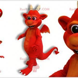 Mascot red devil with horns. Imp mascot - Redbrokoly.com