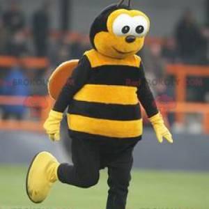 Žlutý a černý včelí maskot - Redbrokoly.com