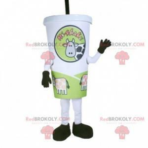 Cardboard cup mascot. Milkshake mascot - Redbrokoly.com