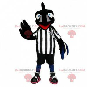Black raven mascot with sportswear - Redbrokoly.com